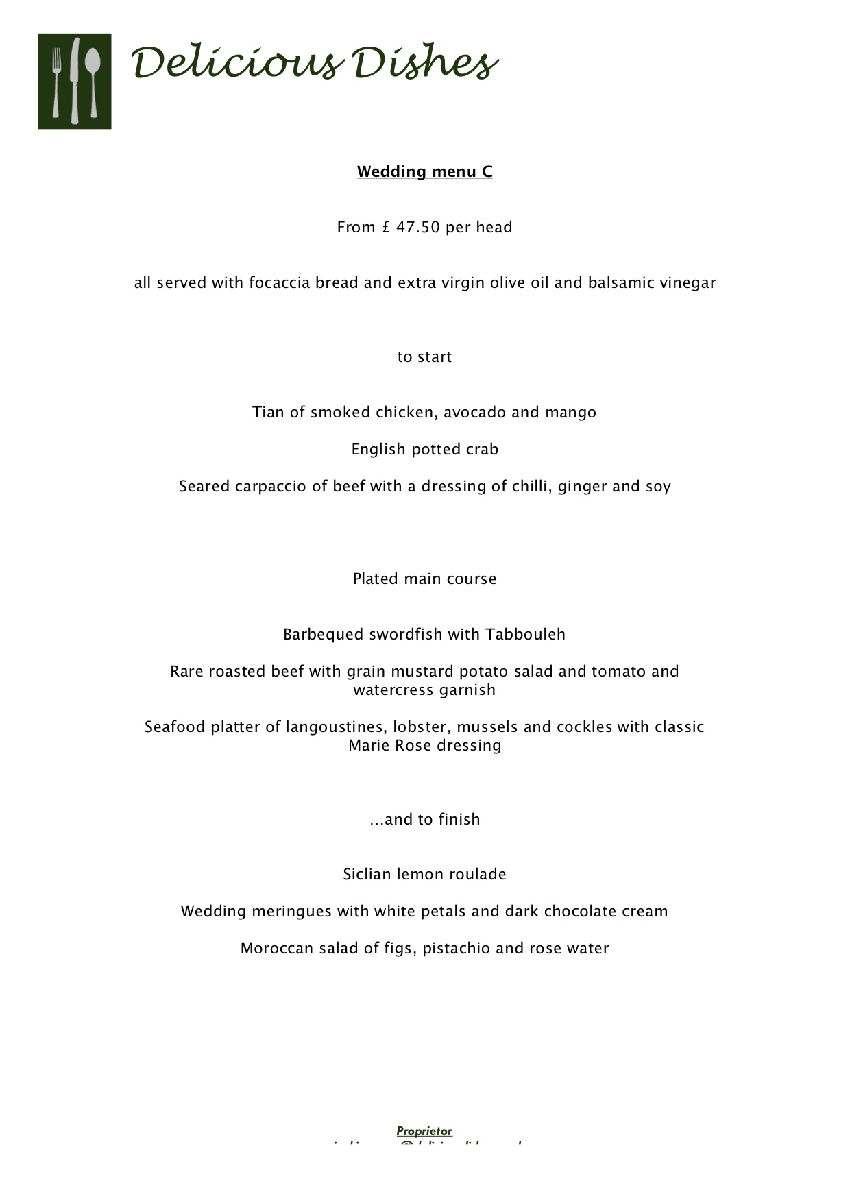 wedding-menu-C-From-£47.50-per-head – Delicious Dishes ...