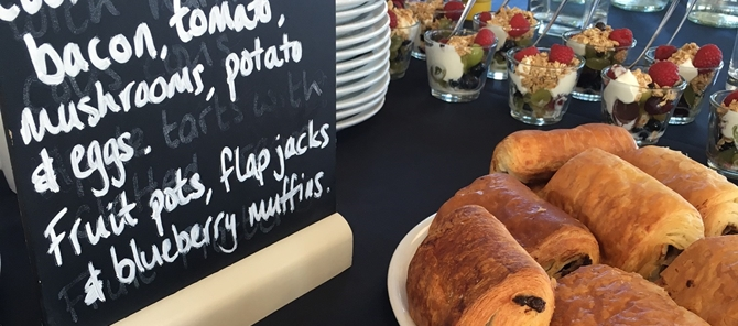 breakfast option - corporate catering surrey