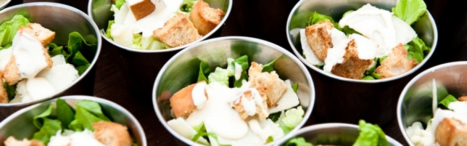 mini salad bowls - private catering surrey