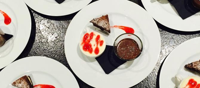 triple chocolate dessert - birthday party catering surrey