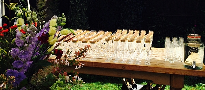 corporate catering surrey - summer bar