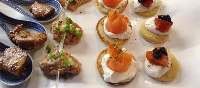 canapes - boardroom lunch catering surrey