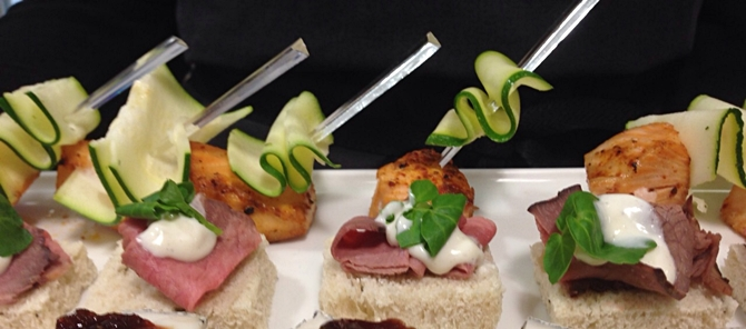 canapes - boardroom lunch event catering surrey