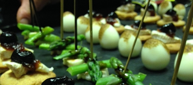 halloumi and asparagus - party catering surrey