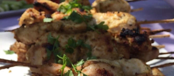 meat skewers - party catering in Surrey by Delicious Dishes